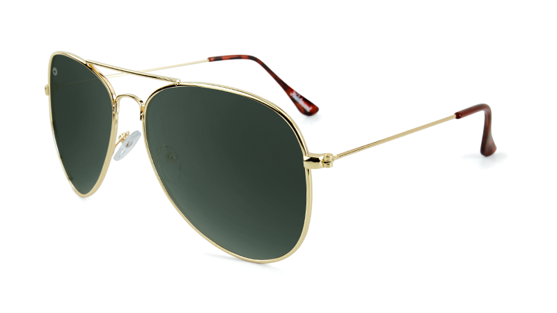 Knockaround Mile Highs Gold Sunglasses